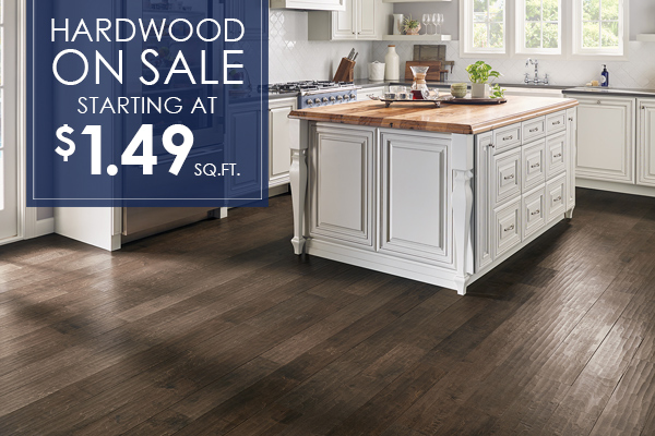 Hardwood on sale now starting at $1.99 sq. ft. Come visit our showroom in Crossville, Tennessee!