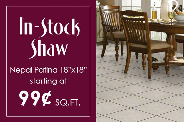 In-stock Shaw Nepal Patina starting at 99¢ sq.ft.