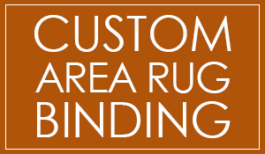 Custom area rug binding at Crossville Wholesale Carpet! Come visit our showroom in Crossville, Tennessee!